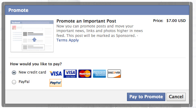 Pay For Play on Facebook?